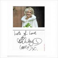 Ashley Slanina-Davies signed genuine signature autograph display AFTAL