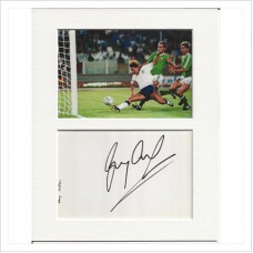 Gary Lineker signed genuine signature autograph display AFTAL
