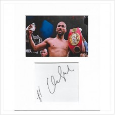 James DeGale signed genuine signature autograph display AFTAL