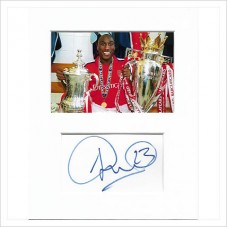 Sol Campbell signed genuine signature autograph display AFTAL